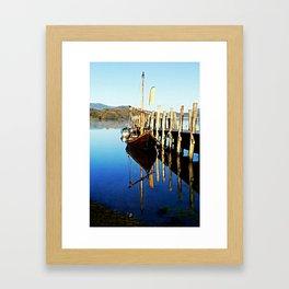Derwent Water Boat Framed Art Print