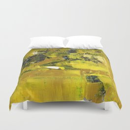 Waiter Yellow Abstract Modern Art Painting Duvet Cover