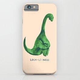 Lonely loch ness monster (loch-li-ness) iPhone Case