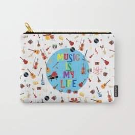 Music is my life (White) Carry-All Pouch