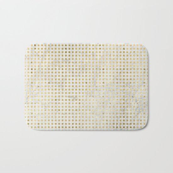 gOld squares Bath Mat