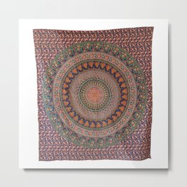 Indian Mandala Tribal Wall Hanging Tapestry Metal Print