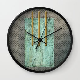 Metal Composition I Wall Clock
