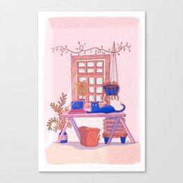 Worker Cat Canvas Print