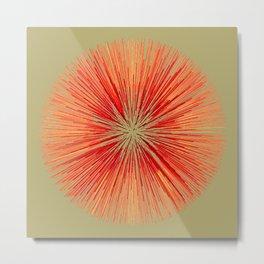 Fibo Burst (red) Metal Print