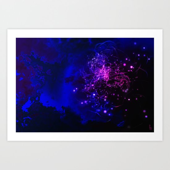 Mysterious Galaxy Art Print