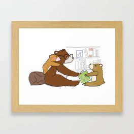 Reading is fun Framed Art Print