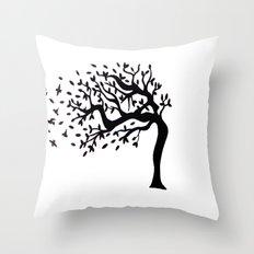 Tree Birds x2 Throw Pillow