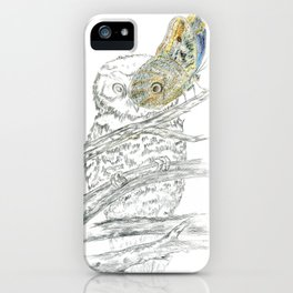 Miss Owl and Butterfly friend iPhone Case