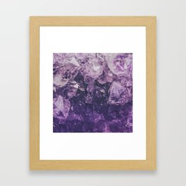 Amethyst Gem Dreams Framed Art Print