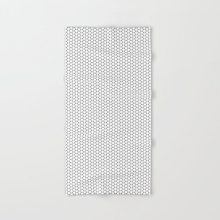 Black and White Basket Weave Shape Pattern - Graphic Design Hand & Bath Towel