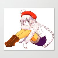 hetalia Canvas Prints featuring Hetalia Kugelmugel by Amymone Montoya
