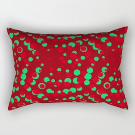 CrimsonSangriaTeal_Abstract Rectangular Pillow