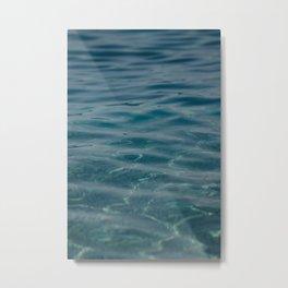 Dark Blue Sea. Waves and Ripples. 04 Metal Print