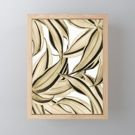 Dracaena Tropical Leaves Pattern Gold Black #1 #tropical #decor #art #society6 Framed Mini Art Print