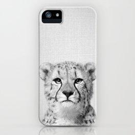 Cheetah - Black & White iPhone Case