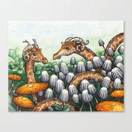 Giraffe Serpents Canvas Print