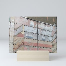 Architectural Detail Wall, Salvage, Old building, Chicago Mini Art Print