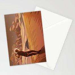 Golfing on Mars Stationery Cards