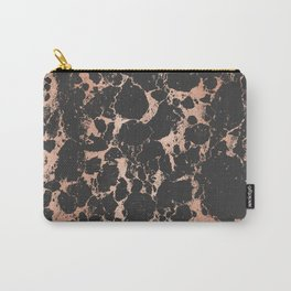 Marble Black Rose Gold - DNA Carry-All Pouch