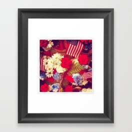 The Red, White, and Blue Framed Art Print