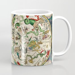 De Wit's Celestial Hemispheres, North and South, 1670 Coffee Mug