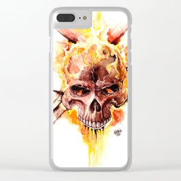Ghost Rider Skull Clear iPhone Case