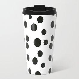 Black & white polka dot pattern Travel Mug