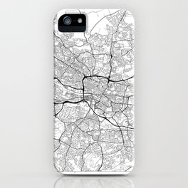 Glasgow Map White iPhone Case