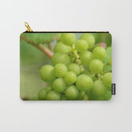 Green grapes in a Belgian vineyard Carry-All Pouch