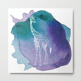 Color Spot Safari Giraffe Metal Print