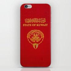 Kuwait PassPort Red Simple iPhone & iPod Skin