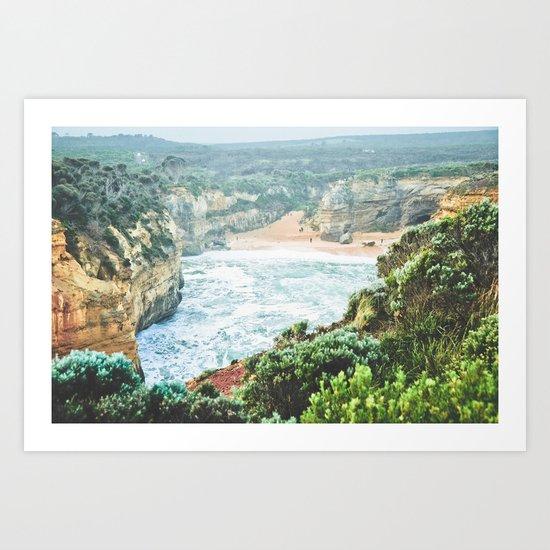Wild seashore, Australia Art Print