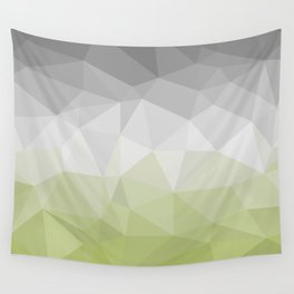 light green and grey polygon Wall Tapestry