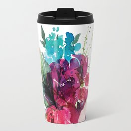 Florals V Travel Mug