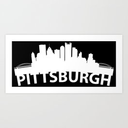 Curved Skyline Of Pittsburgh PA Art Print