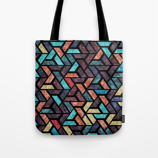 Seamless Colorful Geometric Pattern XV Tote Bag