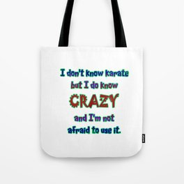 Funny One-Liner Karate Joke Tote Bag