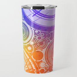 Colorful Circles Pattern Travel Mug