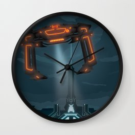 The Grid (Tron: Legacy) Travel Poster Wall Clock