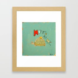 Momma and Me Framed Art Print