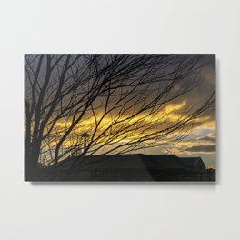 Crouching Tiger, Hidden Space Needle Sunset Metal Print