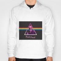 freud Hoodies featuring Pink Freud by Priscylla Cabral