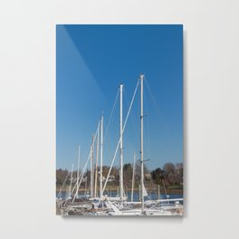 Boats in Southport Metal Print