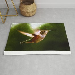 Moonlit Iridescence Hummingbird Rug
