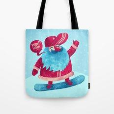Snowboard Santa Tote Bag
