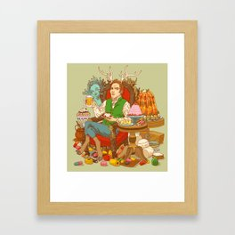 Gelatin God: Hydrocolloid Pantheon Framed Art Print