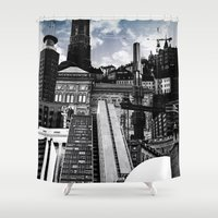 stockholm Shower Curtains featuring Urban Stockholm by Nicklas Gustafsson
