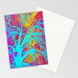 Hippy Tree Print on Phone Cases, Bags and more Stationery Cards