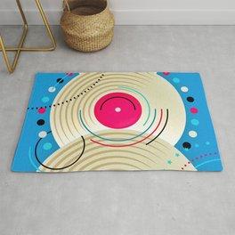 Music Albums Abstract Geometric Art Rug